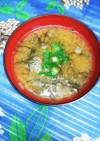 生モズクのお味噌汁