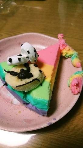 ゆめかわレインボーチーズケーキ