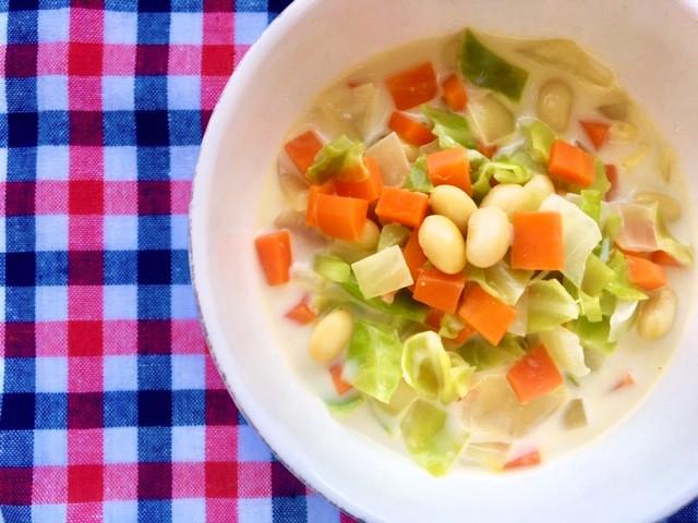 簡単!釜蒸し大豆のクリームスープ
