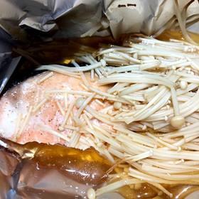 トースターで作るサケのホイル焼き
