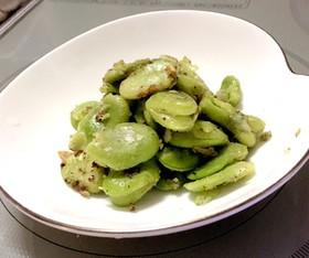 簡単 おつまみ✨そら豆のペペロンチーノ風