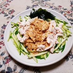 ダイエットに、鳥のむね肉を使って棒々鶏