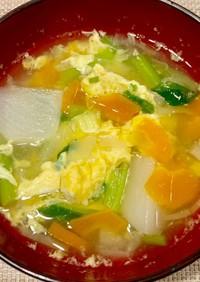 かぶ入りでお野菜たっぷりの中華卵スープ♪