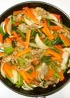 野菜炒め♪簡単酢豚風