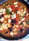 ミニトマトゴロゴロ夏野菜麻婆豆腐