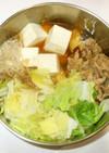 肉豆腐♪簡単豚肉白菜で