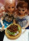 リカちゃんサイズ♡野球シリꕤ味噌そぼろ飯