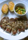 豚肉のソテー、玉ねぎソース♫