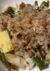 納豆とピーマンのたっぷりかつお節ご飯