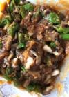 シシトウと椎茸の甘味噌