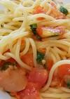 トマトソースの冷製スパゲティ