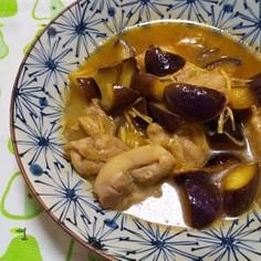 鶏もも肉と茄子のさっぱり煮