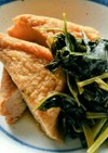 空芯菜と厚揚げの簡単煮浸し