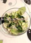 大量消費に☆三つ葉とレタスの豆腐サラダ♪