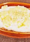 豆腐と鯖缶のキムチ味ドリア風