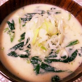 ヘルシー♡豆腐でクリームミソスープ