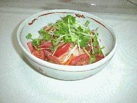 トマトともやしのサラダ