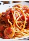 海老とトマトのバジルスパゲティ