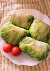 野菜不足解消 お肉入りご飯のレタス巻き