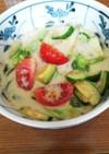 火を使わない!夏野菜の豆乳スープ