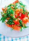 夏旬トマトの梅ドレさっぱりサラダ