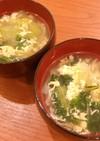 青梗菜の卵スープ