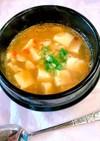ほとんど豆腐だけの胡麻坦々風スープ