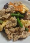 レンジで簡単♪卵と豚肉の中華炒め