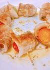 一人暮らしのトマトの豚バラ巻き巻き焼き