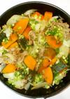 かぼちゃ豚肉の煮物♪簡単生姜風味