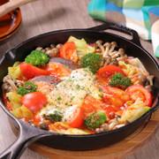 秋鮭ととろ~りチーズのトマトパッツァの写真