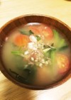 さっぱり冷汁⭐トマトとほうれん草の味噌汁