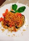 鶏胸肉の変わりパン粉乗せ…イタリアン
