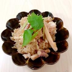 圧力鍋で♪イカと生姜の炊き込みご飯
