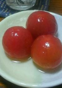 コロンと可愛い☆トマトのシロップ漬け