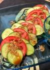 まん丸トマトと胡瓜の中華風サラダ
