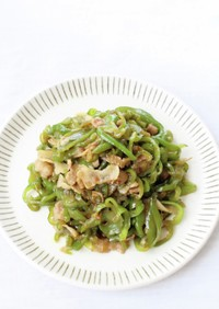 長岡野菜【かぐら南蛮と豚の味噌きんぴら】
