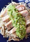 ★レンチン★鶏もも肉のオクラソースがけ