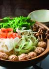 鶏団子とピーラー野菜のしゃぶ鍋♪
