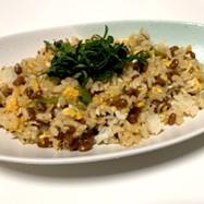 納豆炒飯。