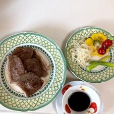 焼き肉と茹で野菜   時短料理