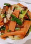 チンゲン菜、人参、椎茸の昆布和え