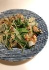鶏と水菜のマヨ柚子胡椒炒め