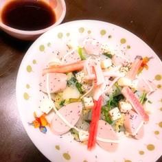 白菜とほうれん草のサッパリサラダ♪