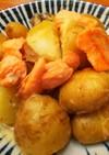 簡単美味・鮭とジャガイモの白味噌炒め