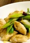 鶏胸肉と長ネギの甘辛炒め