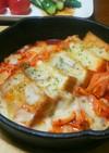 簡単☆厚揚げのキムチチーズ焼き