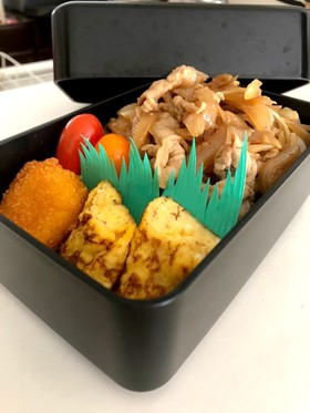 時短、豚丼弁当٩(*ゝڡ◕๑)۶♡