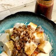 ダイエット中にも豆腐と納豆の満腹サラダ♪