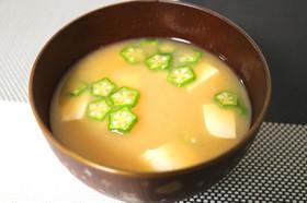 簡単!電子レンジで豆腐とオクラのお味噌汁